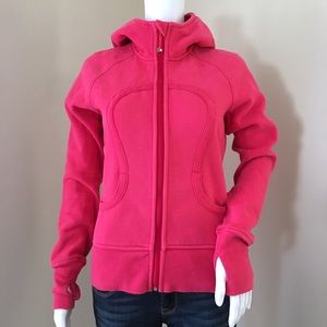 Lululemon Scuba Jacket 8 Pink Hoodie Raspberry